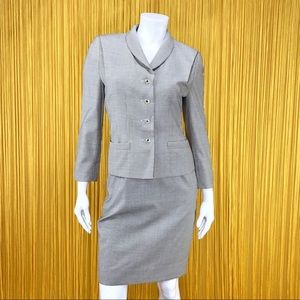 ESCADA Houndstooth Wool and Silk Skirt Suit 6